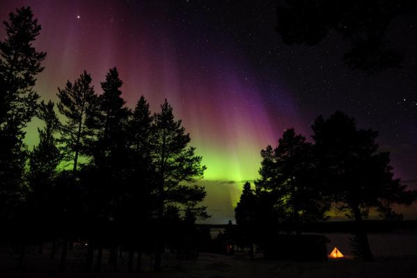 Lodge Aurora sous les aurores en Laponie