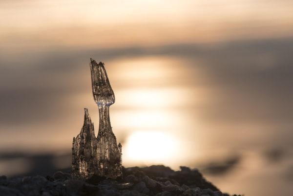 Sculpture de glace sur l'île de Senja